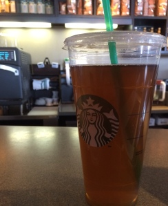 Trenta, unsweetened green tea with no water and no ice!